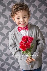 My littlest Valentine (njmommyof3boys) Tags: flowers boy red portrait toddler child tie valentine cardigan valentinesday