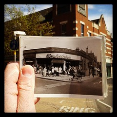 c. 1968: Chamberlins. (B0deeman) Tags: vintage square birmingham perspective suttoncoldfield retro squareformat historical 1960s hefe westmidlands warwickshire aldi allders prams greengrocers iphoneography instagramapp uploaded:by=instagram dearphoto foursquare:venue=4c7e48f8b33a224be260da81