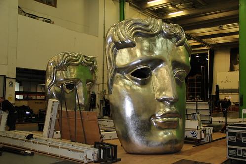 Preparations For The Bafta Film Awards Ceremony 2014 Roh