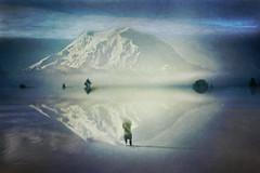 Dormant Emotions on the Horizon (Stacy Ann Young) Tags: photomanipulation digitalart dream mtrainier dreamscape stratovolcano snowcappedmountain