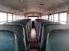 Interior of Thomas Built MVP ER school bus (SchuminWeb) Tags: county school b black bus green college public buses yellow training ed md education driving er ben thomas interior seat web parking rear transport engine lot maryland class ceiling vehicles commercial seats transportation dome vehicle driver 1997 motor montgomery schools february schoolbus range lots built drivers mvp 2014 cdl thomasbuilt engined schumin schuminweb