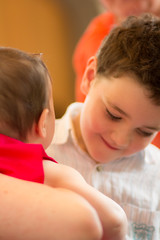 Brother and sister (Nils Croes) Tags: portrait canon children child sister brother magic 85mm baptism baptise 60d