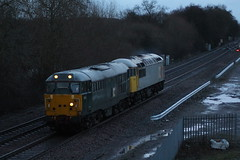 31452+56311 light engine stenson juntion (railways.2011) Tags: class 31 railways 31452