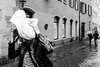 Untitled (The-Tall-Dude) Tags: street wet rain germany bag head gritty grainy ricohgr streettogs