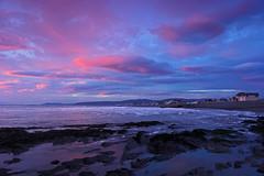 Pastel Sunset (John Ibbotson (catching up!)) Tags: pink sunset sea sun wales clouds evening bay coast ceredigion borth