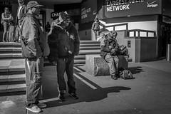 Outside MSG (Levinator25) Tags: nyc blackandwhite newyork fuji streetphotography finepix fujifilm f28 bnw streetphotographer fujix x100s