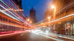 Blue Hour Trails.. (Reckless Times) Tags: longexposure blue light bus nikon bluesky hour oxford lighttrails bluehour nikond5000