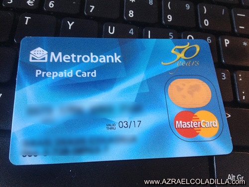 a new card has been introduced to me few weeks ago ive already seen this card before and im a bit surprised that metrobank now offers a prepaid card - Online Prepaid Card