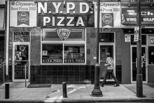 Philadelphia Street Photography - NYPD Pizza
