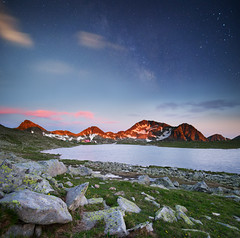 Pirin/Bulgaria (Vilian Raychev) Tags: light sunset summer sky panorama cloud mountain lake 3 nature water colors rock stars landscape minolta outdoor sony formation bulgaria filter lee nd gradient alpha 1735 pirin a850 km1735 tevno dslra850 ilce7 laea4 7 alphaforumnet