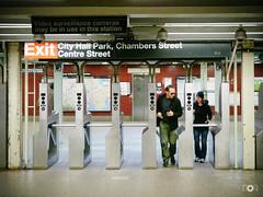 Exit Point (donmarco13) Tags: street city people newyork subway cityhall strasse urlaub menschen ubahn exit vsco