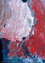 Indus River, Pakistan, Floods in 2010 (DMCii) Tags: pakistan water landscapes cities sindh floods dmc nir indusriver satelliteimages aridclimate mangroveforests dmcii ukdmc2 digitaldata