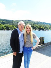 Day at the lakes with grandad (Elysia in Wonderland) Tags: lake district elysia grandad ron funny laughing hilarious bowness windermere