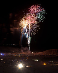Fireworks Over Truckhaven Hills, Ocotillo Wells (Jeffrey Sullivan) Tags: fireworks truckhaven hills blm ocotillo wells ohv anzaborrego state park borrego springs california usa landscape nature photography canon 5dmakrii photos copyright march 2012 jeff sullivan