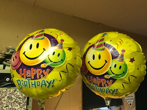 Folieballon Smiley Happy Birthday