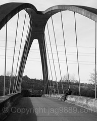 "REU700  ""Little Golden Gate"" Arch Bridge over the Reuss River, Root, Canton Lucerne, Switzerland (jag9889) Tags: blackandwhite footbridge root 20170311 river goldengate centralswitzerland switzerland archbridge bridge reuss europe rontal cantonlucerne 2017 6037 alpine bridges bruecke brücke ch cantonoflucerne crossing fussgängerbrücke helvetia infrastructure innerschweiz kantonluzern lu lucerne luzern luzernost outdoor pedestrianbridge pont ponte puente punt schweiz span structure suisse suiza suizra svizzera swiss zentralschweiz jag9889"
