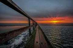 Pier to Sunrise (Explored 11-3-2017) (mcalma68) Tags: pier edam dutchlandscape seascape sunrise lake netherlands