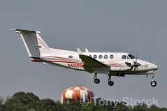 N415RB (bwi2muc) Tags: plane airplane flying aircraft super beechcraft beech bwi bwiairport superkingair200 bwimarshall n415rb