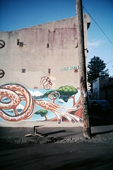reach (lonely radio) Tags: signs streetart film 35mm t shadows chairs fitzroy australia melbourne victoria wires poles asphalt f28 contaxt3 sonnar carlzeiss pc3065 auspctagged kodakportra160nc scansf20130525t3p16035 brunswickpl