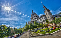 Sunny St Pauls (Harry Ball) Tags: summer london photoshop stpauls explore stpaulscathedral hdr canonphotography canonef1740mmf4l explored canon5dmarkii oloneohdr