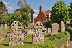 Ancient & Modern. (dlanor smada) Tags: uk england chilterns gb bucks gravestones churchyards cuddington valeofaylesbury