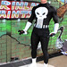 The Punisher Human Statue Bodyart Bodypainting