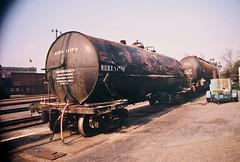 San Bernardino derailed tanks (Santa Fe Way) Tags: railroad santafe station train sanbernardino tankcar derailment atsf ayard sanbern