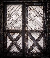 Double Doors, Crusher House, Soudan Mine (Diana Philpot) Tags: door wood bw minnesota barn worn ore ironrange