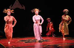 (L to R) Azumi Milligan (Little Eva), Katie Boren (Topsy) and Carol Angeli (Uncle Thomas) in The King and I produced by Music Circus at the Wells Fargo Pavilion August 6-11, 2013. Photo by Charr Crail.