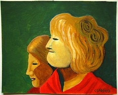 Matleena and Inkeri (carola sarén) Tags: ladies acrylics