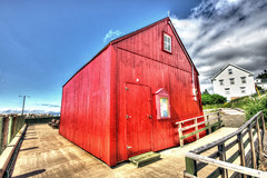 Red shed (elementalPaul) Tags: red canada novascotia pentax shed hdr hallsharbour sigma1020mm redshed photomatixpro 5xp k10d pentaxk10d