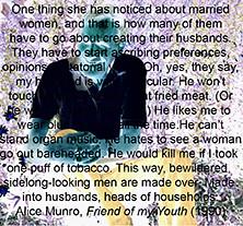 Alice Munro_winner of Nobel Prize for Literature_2013 (glantine) Tags: humorous quote tribute hommage author homage husbands citation alicemunro marriedwomen nobelprizeforliterature