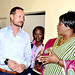 UNDP Goodwill Ambassador HRH Crown Prince Haakon of Norway and First Lady Dr. Christine Kaseba visiting Chongwe District Hospital