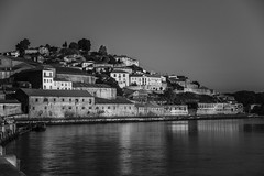 Porto River (Salvador Nobre da Veiga) Tags: city sunset sun portugal skyline dinner river landscape europe candles wine porto douro dining oporto