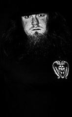 Man in black (Isengardt) Tags: portrait white selfportrait black hat canon eos grey grau hut demon 1855mm weiss schwarz maninblack selfie diabolical dmon 550d manninschwarz chickeninblack