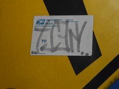 kelt (695129) Tags: old vancouver graffiti washington sticker mail label tag faded backwards wa slap usps written drawn priority backward kelt