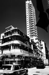 Baker St.  _HHO8501-2 (camera2m) Tags: street city blackandwhite bw hk house building car architecture hongkong nikon traffic sw schwarzweiss ch hunghom