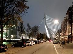 Erasmusbrug Noordereiland (JanvanHelleman) Tags: erasmusbrug vision:sky=066 vision:outdoor=0923