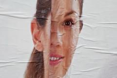 Slice face (Gary Kinsman) Tags: italy woman milan smile face advertising poster italia distorted milano slice covered advert flyposter lombardia gioia lombardy canon50mmf14 2013 canoneos5dmarkii canon5dmkii flickrandroidapp:filter=none