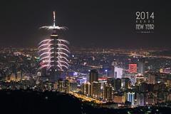 Happy New Year 2014 & Taipei 101 Fireworks  Jan. 1, 2014 (*Yueh-Hua 2016) Tags: longexposure sky tower architecture skyscraper canon landscape eos 101    canonef2470mmf28lusm        101    550d horizontalphotograph     l  taipei101internationalfinancialcenter    canoneos550d  2014january