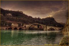 Ponte del Diavolo...... (Ponte della Maddalena) (leon.calmo) Tags: canon ponte maddalena della garfagnana pontedeldiavolo serchio borgoamozzano eos50d leoncalmo potd:country=it