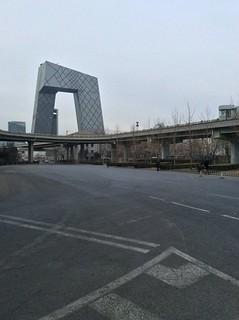 """【组图】春节将至北京CBD变""""空城"""""""