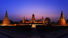 Wat Chaiwatthanaram (Twilight) Ayutthaya Province : Thailand