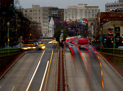 North on Connecticut (vpickering) Tags: dc connecticut lighttrails dupontcircle connecticutave connecticutavenue
