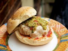 Chicken & Pork Burger (Viv Lynch) Tags: food chicken