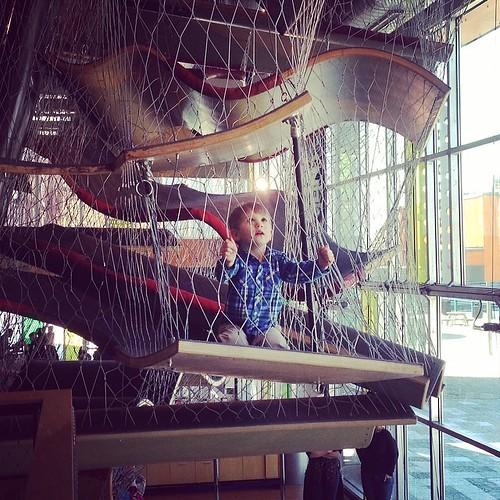 Caden Climbing at the Children's Museum