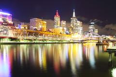 Melbourne nightscape (b.landscape) Tags: night lights melbourne southbank yarrariver flindersstation yarrafootbridge