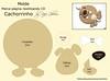 Molde especial - marca-página reutilizando cd - cachorro (Feito a mão [by Rafa]) Tags: diy felt cachorro feltro molde fieltro reutilização marcapágina façavocêmesmo