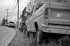 Where I'm From (4oClock) Tags: auto life street city travel bw horse usa white canada black cold west classic ford monochrome truck work real mono nikon 60s rust northwest nt traditional country north pickup nwt f150 gritty canadian september used adventure american tailgate northamerica everyday nikkor dslr 60 sixties v8 territories yellowknife 1960 degrees flatbed 18105 d90 2013 nwa13
