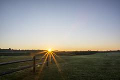 History (Jarrett Hendrix) Tags: morning sun beautiful sunrise landscape md maryland farmland lensflare woodenfence sunspot fenceline mdinfocus